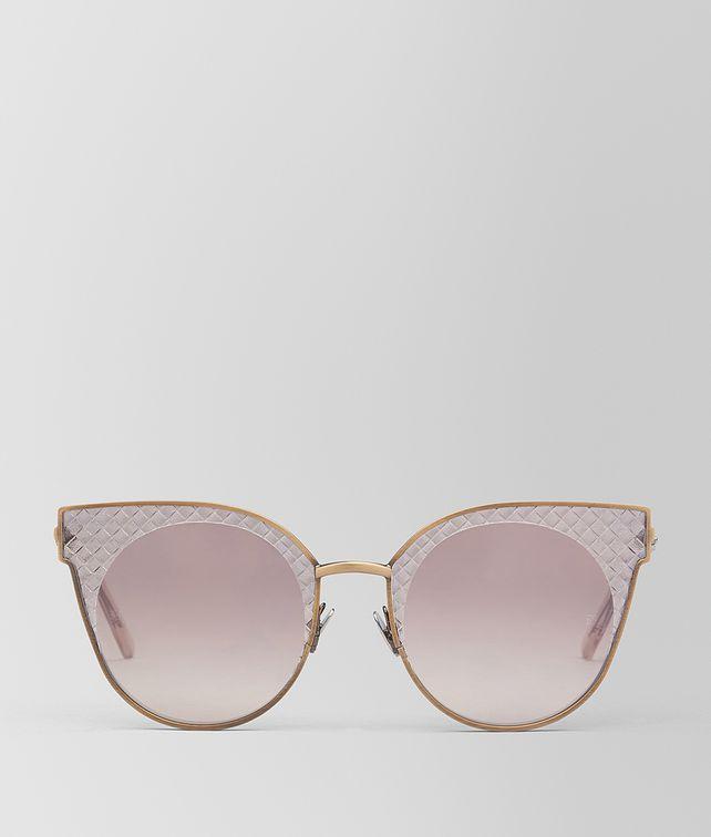 BOTTEGA VENETA BRONZE METAL SUNGLASSES Sunglasses [*** pickupInStoreShipping_info ***] fp
