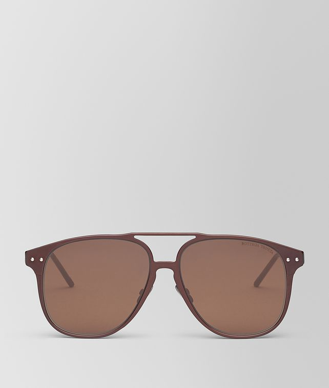 BOTTEGA VENETA BROWN ALUMINUM SUNGLASSES Sunglasses [*** pickupInStoreShippingNotGuaranteed_info ***] fp