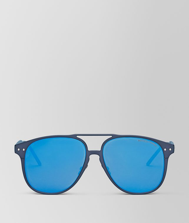 BOTTEGA VENETA BLUE ALUMINUM SUNGLASSES Sunglasses Man fp