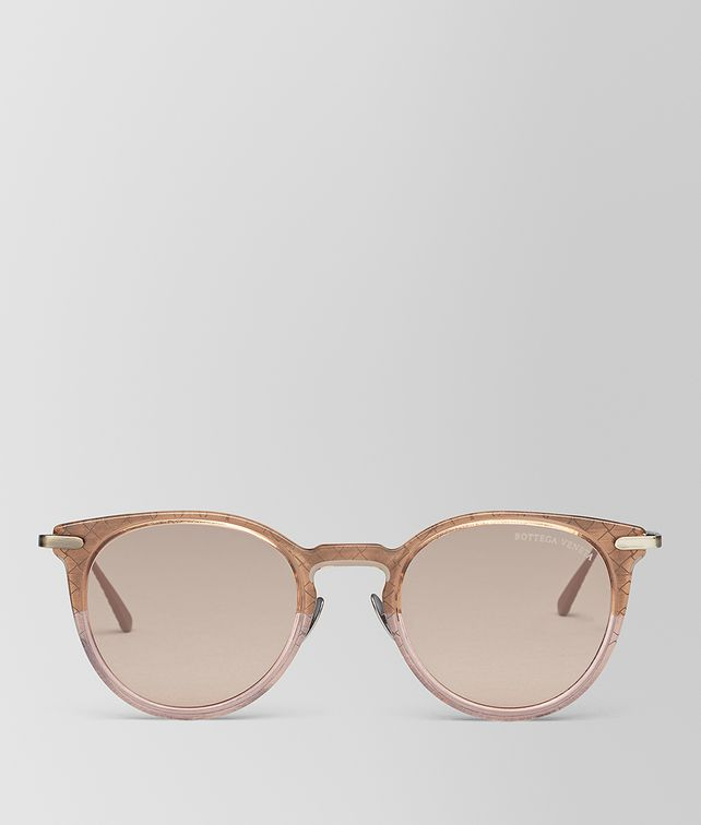 BOTTEGA VENETA BROWN METAL SUNGLASSES Sunglasses E fp