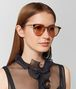 BOTTEGA VENETA BROWN METAL SUNGLASSES Sunglasses E lp