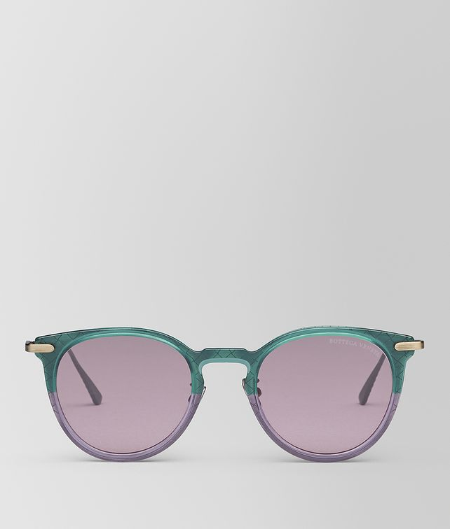 BOTTEGA VENETA GREEN METAL SUNGLASSES Sunglasses E fp