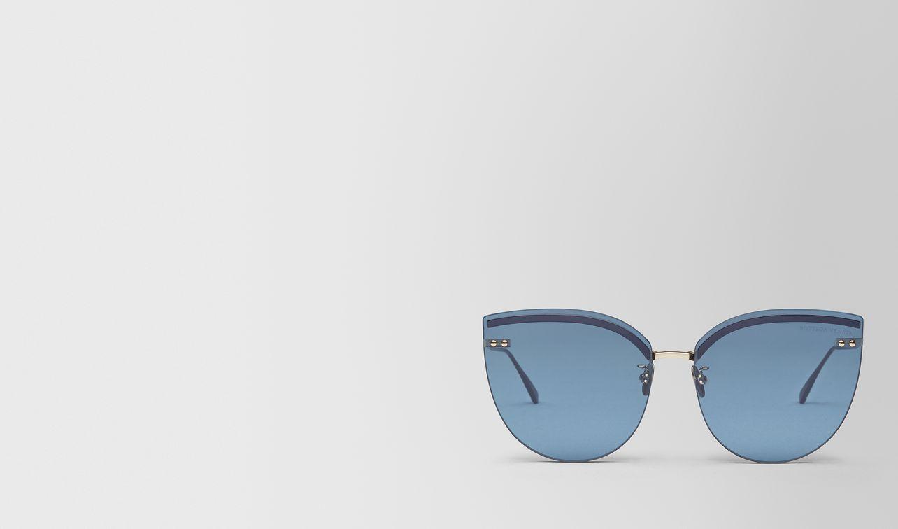 blue metal sunglasses landing