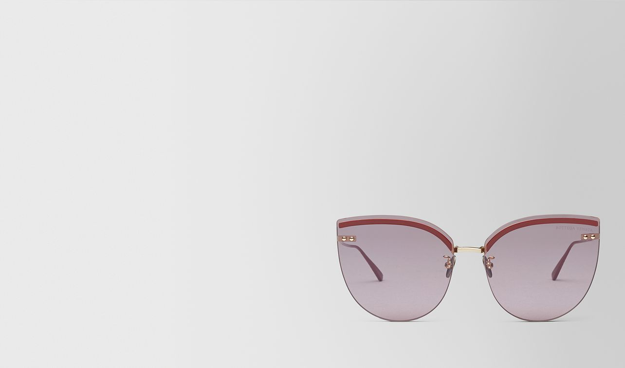 burgundy metal sunglasses landing