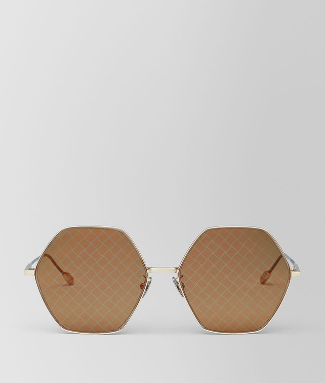 BOTTEGA VENETA GOLD METAL SUNGLASSES Sunglasses Woman fp