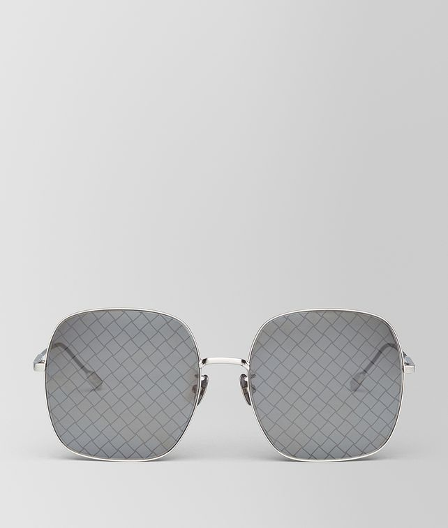 BOTTEGA VENETA SILVER METAL SUNGLASSES Sunglasses Woman fp