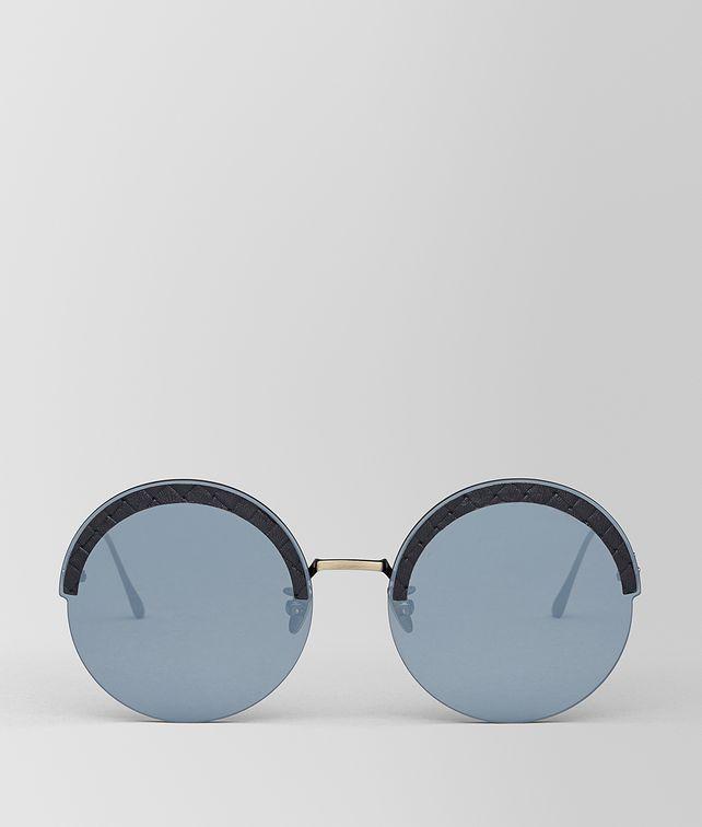 BOTTEGA VENETA GOLD METAL/LEATHER SUNGLASSES Sunglasses [*** pickupInStoreShipping_info ***] fp