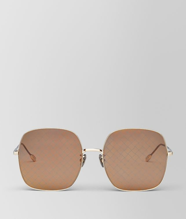 BOTTEGA VENETA GOLD METAL SUNGLASSES Sunglasses [*** pickupInStoreShipping_info ***] fp