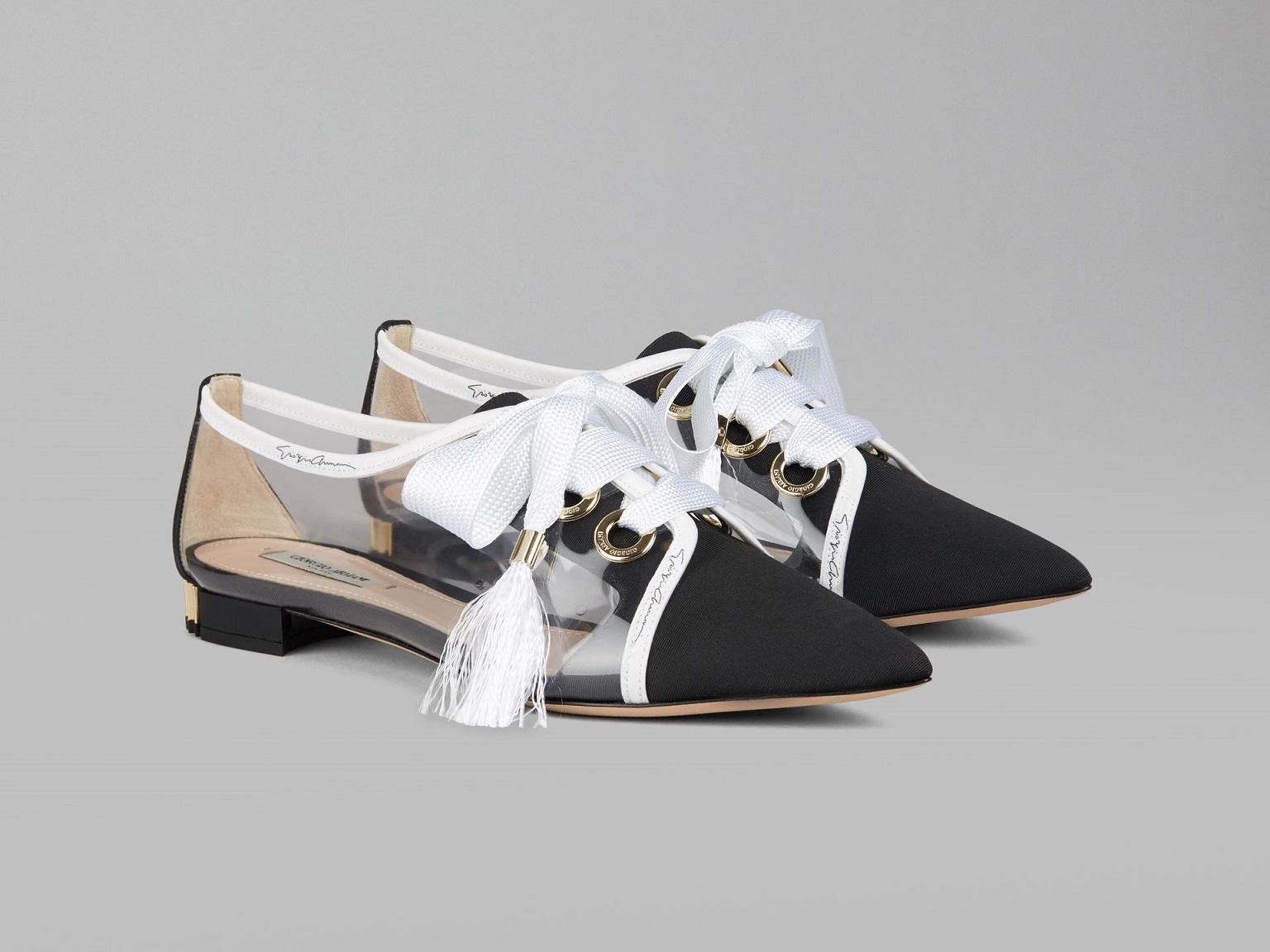 Sneaker Femme Pas cher en Soldes, Noir, Cuir, 2017, 40Emporio Armani