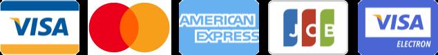 Accepted credit cards: Visa, Mastercard, American Express, JCB, Visa Electron, PostePay