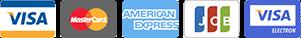 К оплате принимаются карты следующих типов: Visa, Mastercard, American Express, JCB, Visa Electron.